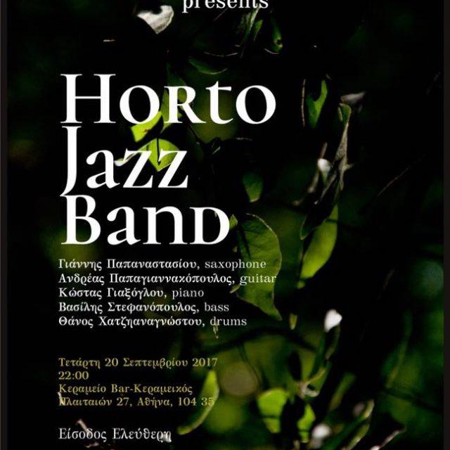 20/09/17 Horto jazz band @ Κεραμείο